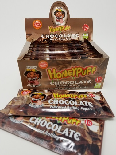 HoneyPuff Chocolate Flavored Rolling Papers 32 leaves per pack