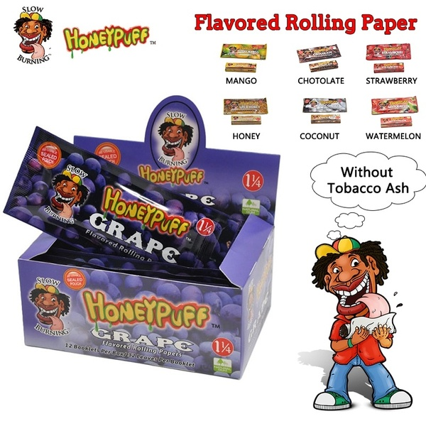 HoneyPuff Grape Flavored Rolling Papers 32 leaves per pack carton