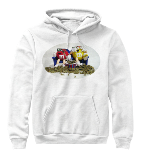 M&M zonked pull over enjoy life with your friends classic White hoodie logo